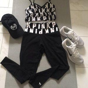 Victoria's Secret Pink  workout leggings & top S